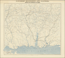 Alabama, Mississippi and Civil War Map By United States Coast Survey