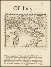 Italy Map By Robert Morden