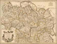 Ukraine, China, Central Asia & Caucasus and Russia in Asia Map By Guillaume De L'Isle