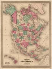 North America Map By Alvin Jewett Johnson