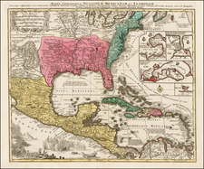 South, Southeast and Caribbean Map By Tobias Conrad Lotter