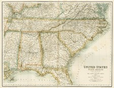 Mid-Atlantic, South and Southeast Map By Archibald Fullarton & Co.