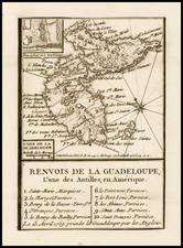 Caribbean Map By Jean de Beaurain