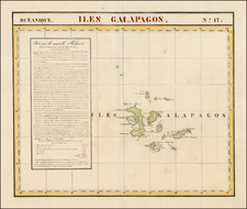 South America and Pacific Map By Philippe Marie Vandermaelen