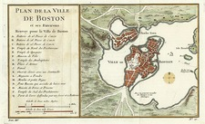 New England Map By Jacques Nicolas Bellin