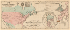 Northern Hemisphere, Atlantic Ocean, United States, North America, Europe and Europe Map By Korff Brothers