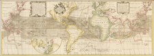 World, World, Atlantic Ocean and Pacific Map By Reiner & Joshua Ottens