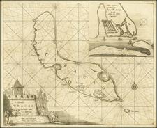 Caribbean Map By Arent Roggeveen / Jacobus Robijn
