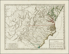 Mid-Atlantic, South and Southeast Map By Pierre Antoine Tardieu