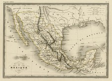 Texas, Southwest, Mexico and Baja California Map By Alexandre Vuillemin