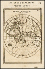 Eastern Hemisphere and Australia Map By Alain Manesson Mallet