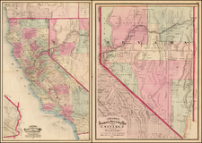California Map By George F. Cram