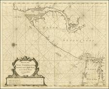 Mid-Atlantic Map By Arent Roggeveen / Jacobus Robijn