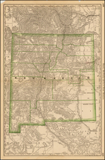Southwest and New Mexico Map By William Rand  &  Andrew McNally