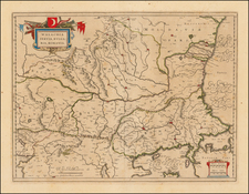 Romania and Balkans Map By Willem Janszoon Blaeu