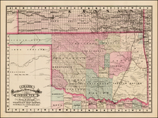 Plains and Southwest Map By George F. Cram