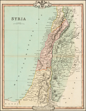 Middle East and Holy Land Map By G.F. Cruchley