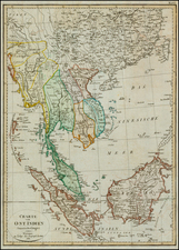 China and Southeast Asia Map By Weimar Geographische Institut