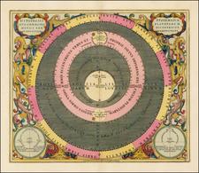 Western Hemisphere, Southern Hemisphere, Celestial Maps and Curiosities Map By Andreas Cellarius