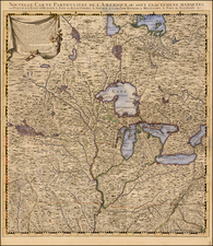 South, Midwest, Plains, Southwest and Canada Map By Covens & Mortier / Henry Popple