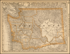 Washington Map By William Rand  &  Andrew McNally
