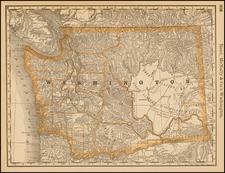 Washington Map By William Rand  &  Andrew McNally