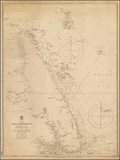 Southeast Asia, Singapore and Malaysia Map By British Admiralty
