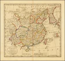 China and Korea Map By Mathew Carey