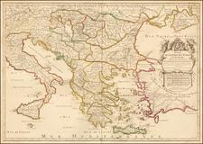Ukraine, Romania, Balkans, Greece and Turkey Map By Alexis-Hubert Jaillot