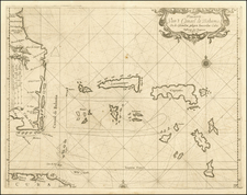 Florida, Southeast and Caribbean Map By Arent Roggeveen / Jacobus Robijn