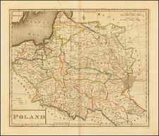 Poland and Baltic Countries Map By Mathew Carey