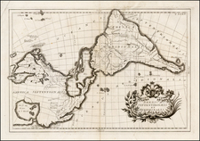 South America and America Map By G.B Ghisius