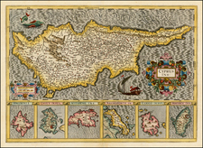 Greece, Turkey and Balearic Islands Map By Gerard Mercator