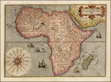 Africa and Africa Map By Gerard de Jode