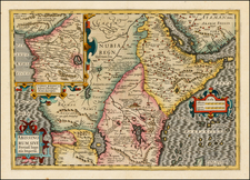East Africa and West Africa Map By Jodocus Hondius