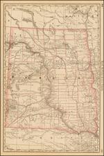 Plains, North Dakota and South Dakota Map By Rand McNally & Company