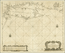 Mid-Atlantic Map By Arent Roggeveen / Jacobus Robijn