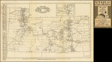 Southwest, Rocky Mountains, Colorado and Utah Map By Rand McNally & Company