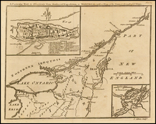 New England and Canada Map By Gentleman's Magazine