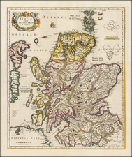 Scotland Map By Henricus Hondius