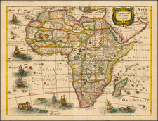 Africa and Africa Map By Henricus Hondius