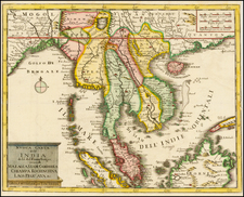 India and Southeast Asia Map By Isaak Tirion