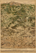 Rocky Mountains Map By Ralph Carlyle  Prather