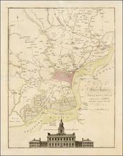 Mid-Atlantic and Pennsylvania Map By Mathais Albrecht Lotter / Scull & Heap