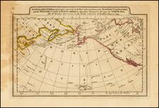 Polar Maps, Alaska and Pacific Map By Mathew Carey