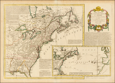 United States and American Revolution Map By Maurille Antoine Moithey