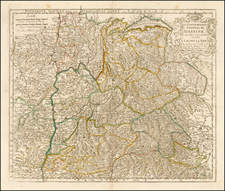 Switzerland and France Map By Nicolas Sanson