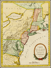 United States, New England and Mid-Atlantic Map By Thomas Anburey