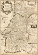Portugal Map By Augustin  Dechaussé / Le Pere Placide de St. Helene