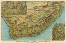 South Africa Map By G.W. Bacon & Co.